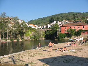 Nature swimming in Portugal